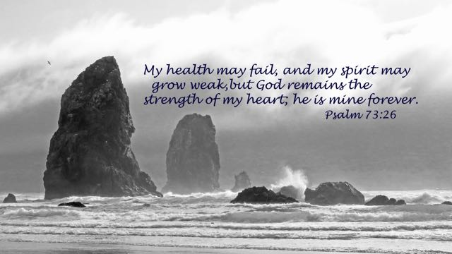 Psalm_73_26_image_picture, Cannon_beach, Oregon_coast, God-forever