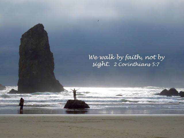 2_Corinthians_5_7_image_picture, walk_by faith, Cannon_beach, Oregon_coast