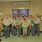 Troop 514 outside the House of Representative chamber