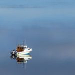 boat_reflections,Lopez_Island, San_Juan_islands
