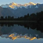 Fox Glaciier, Lake Matheson reflections