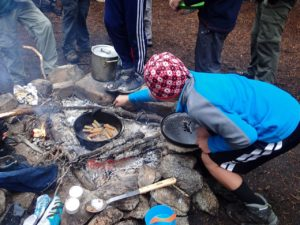 Troop 514 dutch oven breakfast