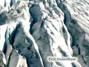 Tasman glacier crevasses