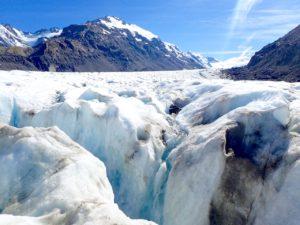 Tasman glacier crevasse