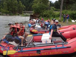 Troop 514 ready to start Grande Ronde river trip