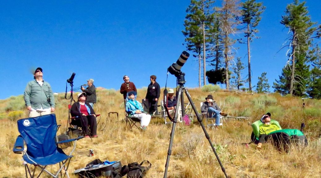 Viewing the eclipse, Dooley Mt