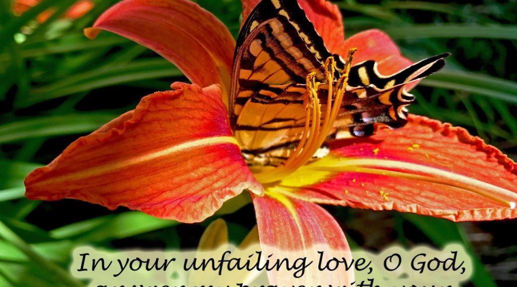 Psalm 69, swallowtail, tiger lilies swallowtail