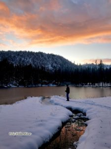 Hoffer Lake sunset
