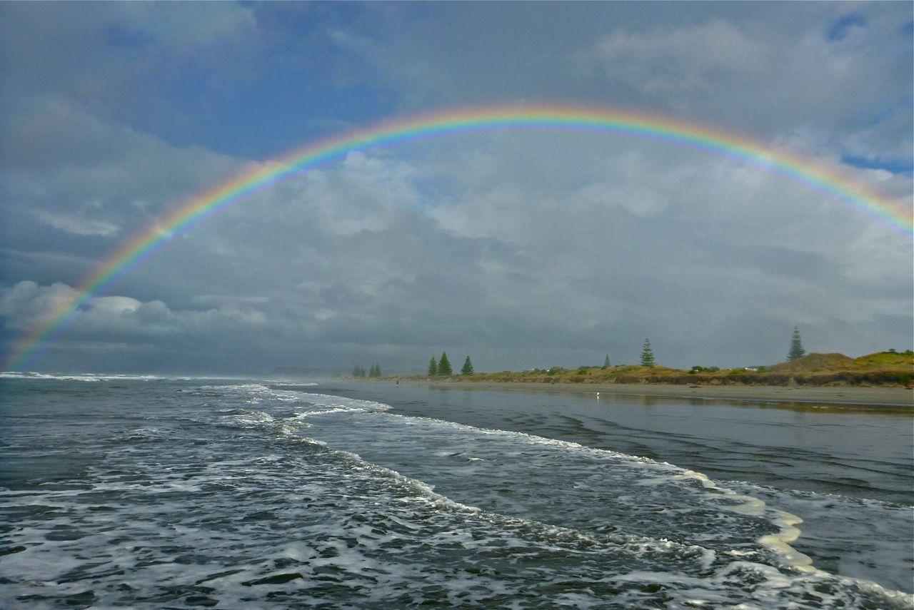 Ohope beach rainbow