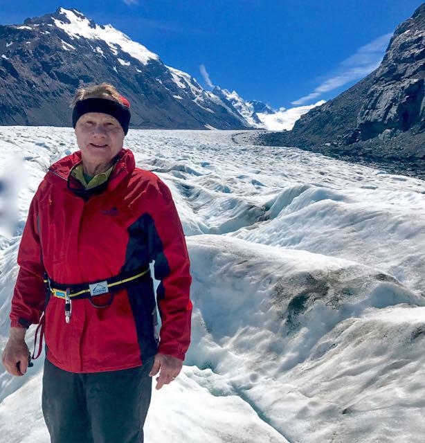 Ag eric standing on glacier