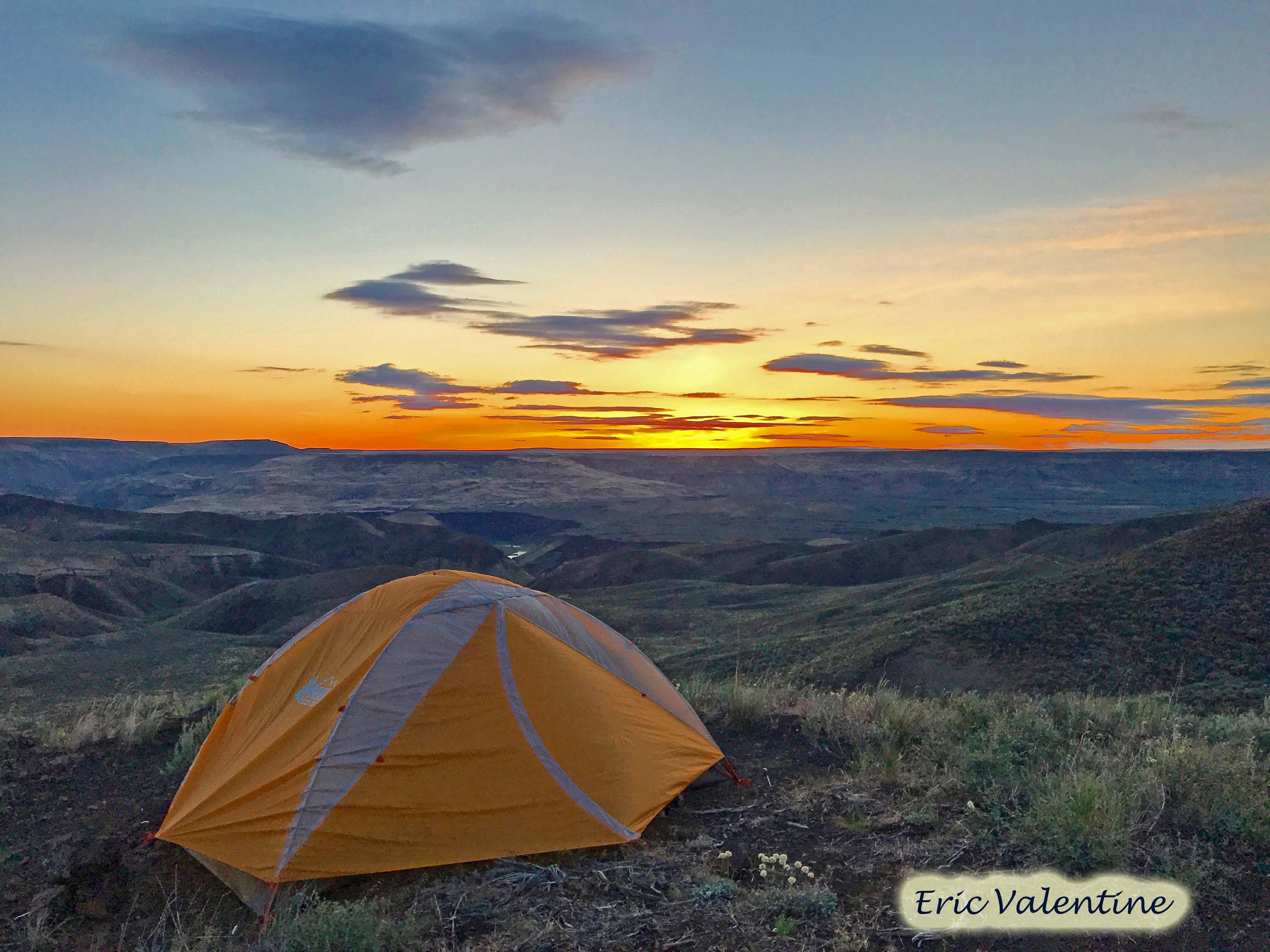 1a chalk basin tent sunrise