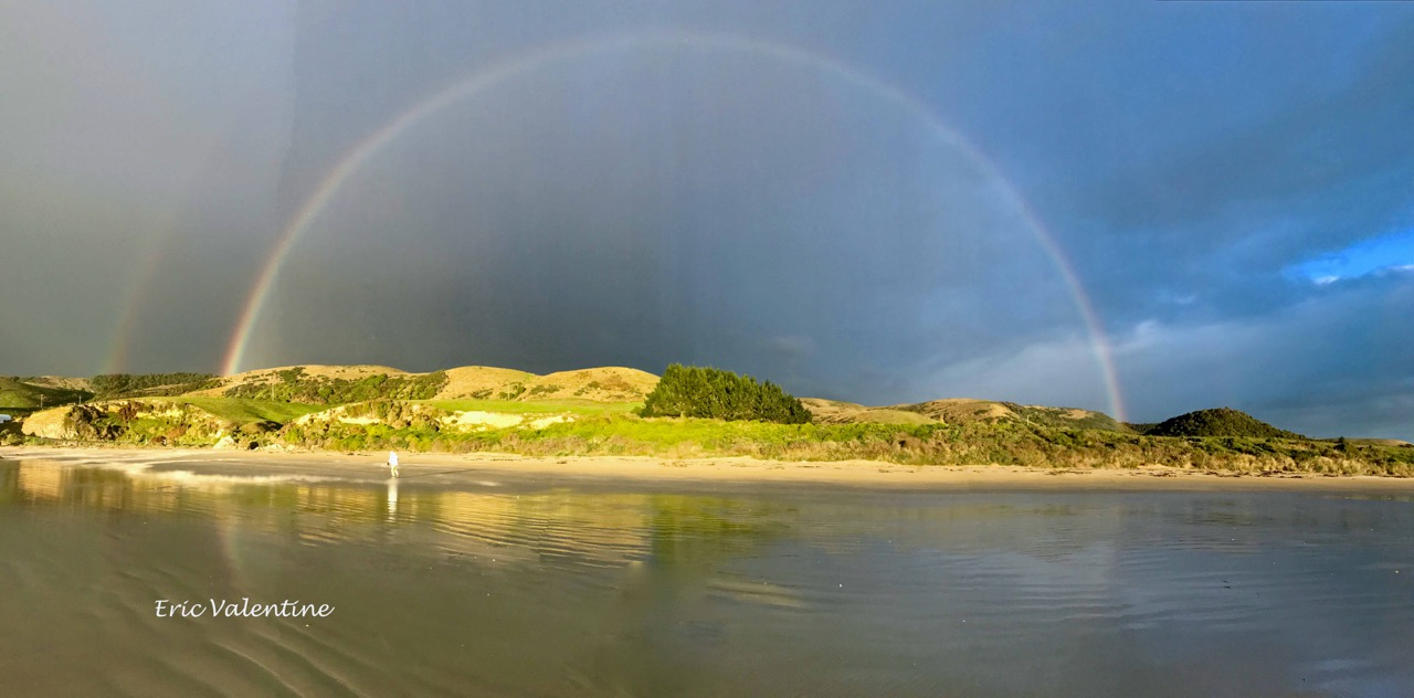 K catlins nugget point meg rainbow pano