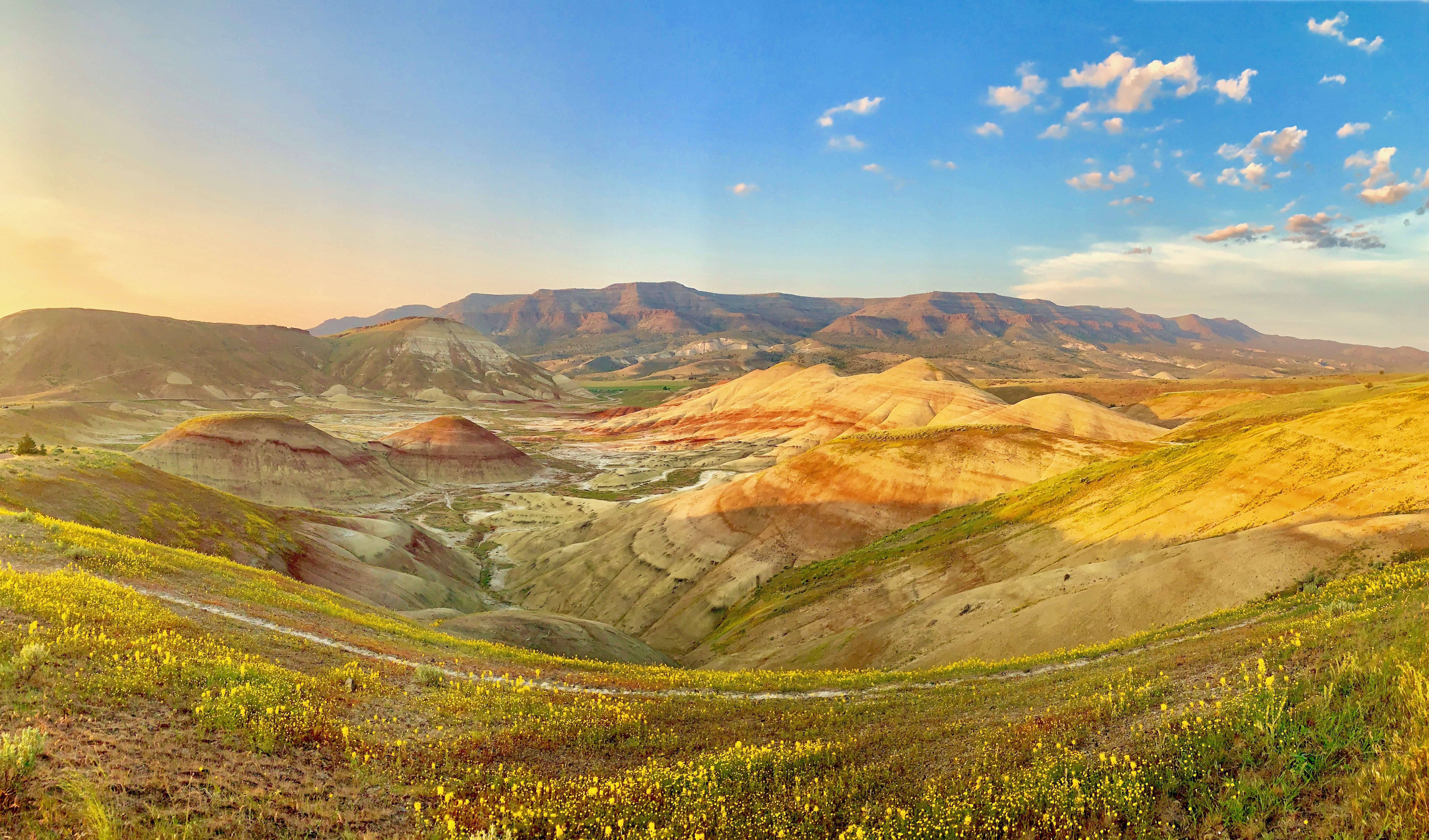 Painted hills friday pm overlook pano light